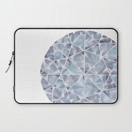 Grey Round Gem Laptop Sleeve
