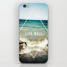 Live Well iPhone Skin