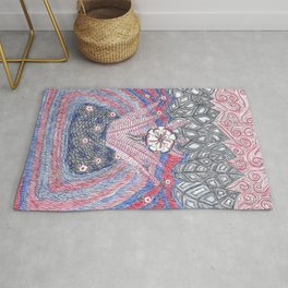 Abstract Flower Field Rug