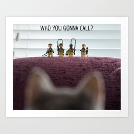 Who you gonna call? - Legostbusters Art Print