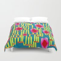 tiki Duvet Covers featuring Tiki Torture by Katie Anderson Art
