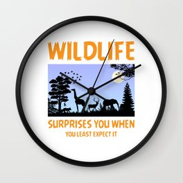 Wildlife Surprises You When You Least Expect It Wall Clock