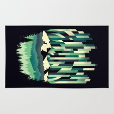 Sunrise in Vertical - Winter Blues Rug