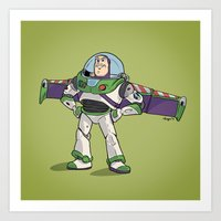 toy story Art Prints featuring Toy Story :: Buzz Lightyear by Brave Tiger Designs
