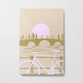 Amsterdam Sunset Metal Print