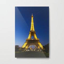 Eiffel at Night Metal Print
