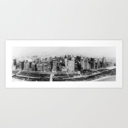 Michigan Avenue in Chicago (1911)  Art Print