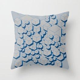 3D Futuristic Cubes III Throw Pillow