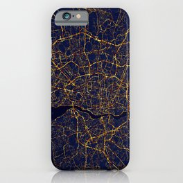 Porto, Portugal Map - City At Night iPhone Case