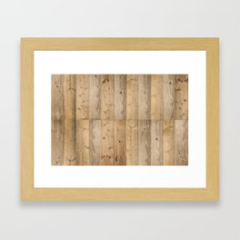 Wood 6 Light Framed Art Print