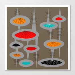Mid-Century Modern Space Age Canvas Print