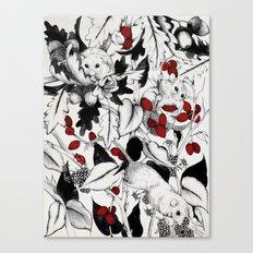 3 little Dormice Canvas Print