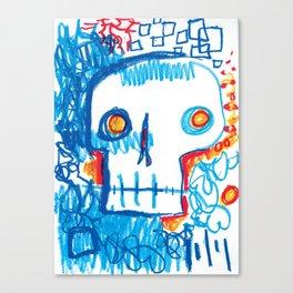 Skull of the Insomniac Canvas Print