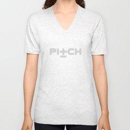 Pitch Recordings logo Unisex V-Neck