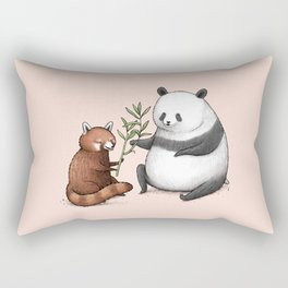 Panda Friends Rectangular Pillow