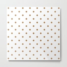 Polka Dots Pattern: Ginger Metal Print