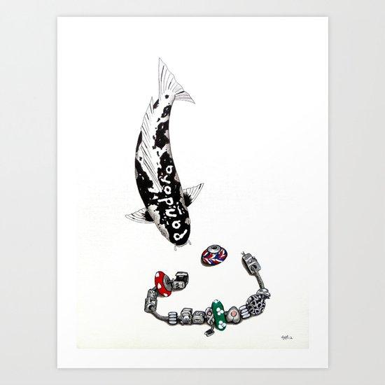 Pandora Koi Utsuri Mono Art Print
