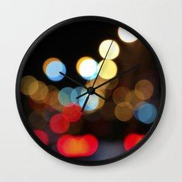City Light Bokeh Wall Clock
