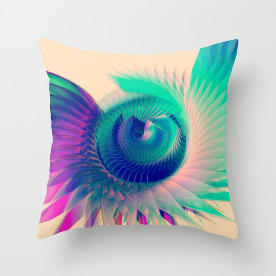 Abstract Wing Throw Pillow