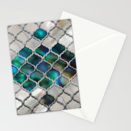 Moroccan pattern on the pearl and color shell Stationery Cards