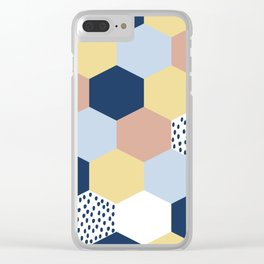 Cotton Candy Hexies Clear iPhone Case