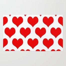 Holidaze Love Hearts Red Rug