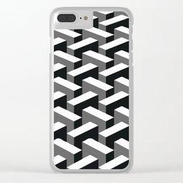 Escher pattern I Clear iPhone Case