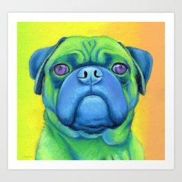 Nugget the pug Art Print