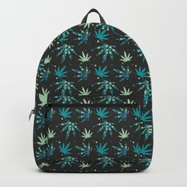 Marijuana leaf and circles seamless pattern background Backpack