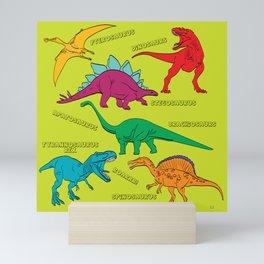 Dinosaur Print - Colors Mini Art Print