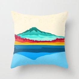 Mount Hood and Trillium Lake Throw Pillow