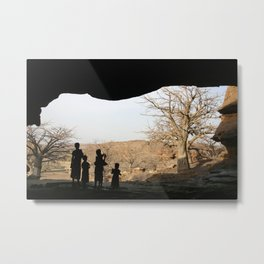 Children in Dogon country, Mali Metal Print