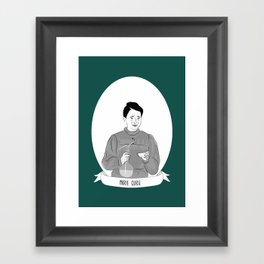 Marie Curie Illustrated Portrait Framed Art Print