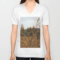 focus V-neck T-shirts featuring Focus by Casey Afton Hess