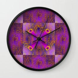 Oo - pattern 3 Wall Clock