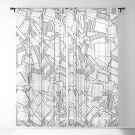 The Book Pile II Sheer Curtain