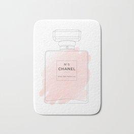 pink watercolor perfume Bath Mat