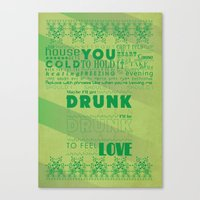 drunk Canvas Prints featuring DRUNK by Insait Disseny