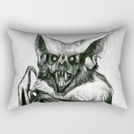 Bloodlust - Black and white Rectangular Pillow
