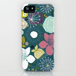 oriental blooms peacock iPhone Case