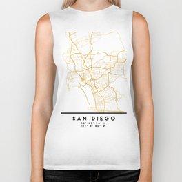 SAN DIEGO CALIFORNIA CITY STREET MAP ART Biker Tank