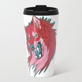 Ravewolf -Teal and Berry Travel Mug
