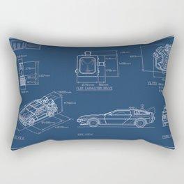DMC DeLorean Blueprint Rectangular Pillow
