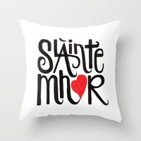 outlander Throw Pillows featuring Slainte Mhor by Fortissimo6