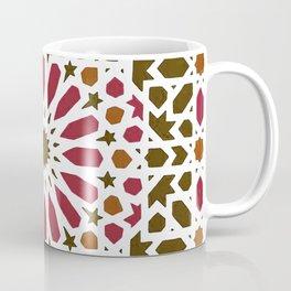 -A1- Red Traditional Moroccan Zellij Artwork. Coffee Mug