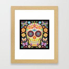 Día de Muertos Sugar Skull (Fiesta) Framed Art Print