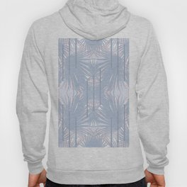 Tropical Art Deco Pattern - Pastel blue and pink Hoody