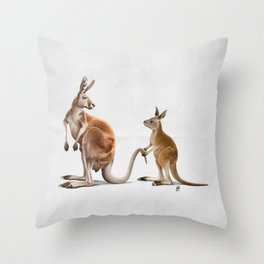 Being Tailed (Wordless) Throw Pillow