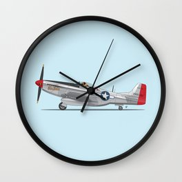 Boxer 'The Duke' flying his P-51 Mustang! -  Dogs driving things Wall Clock