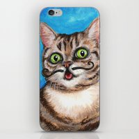 lil bub iPhone & iPod Skins featuring Lil Bub - Cats with Moustaches by Megan Mars